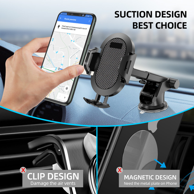 Windshield Gravity Sucker Car Phone Holder For Phone Universal Mobile Support For iPhone Smartphone 360 Mount Stand in Car 1
