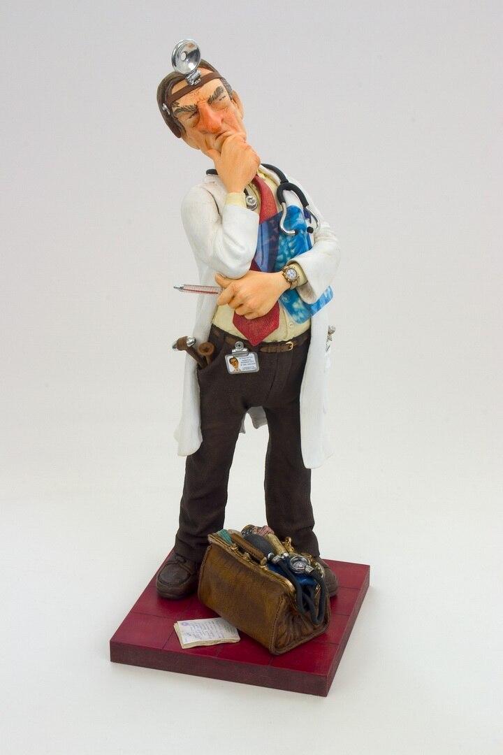 Maître français d'art humoristique docteur personnages Collection usine forage prix spécial Statue privilèges Figure sculpture