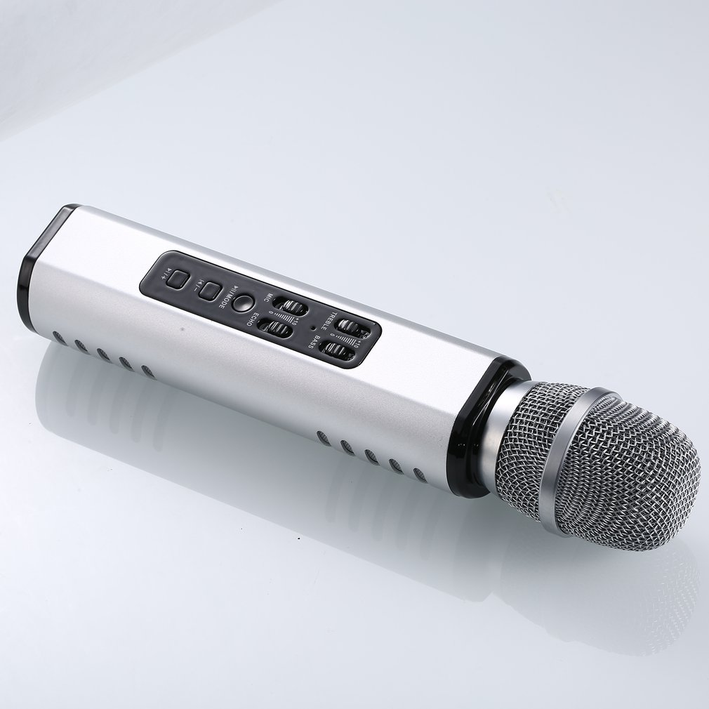 K6 Mobile Phone K Song Microphone Wireless Microphone Multi-Function Dual Speaker Private Mode Portable Smart Microphone