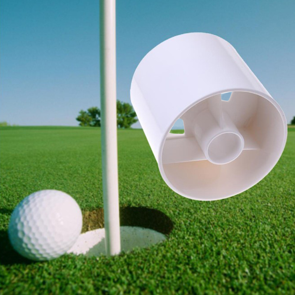27 Mm Plastic Golf Green Hole Cup Backyard Practice Assistant Putting Training Tool Flagpole Cup Hole Golf Training Accessories