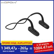 WOPOW עצם הולכה Bluetooth אוזניות אלחוטי אוזניות עם מיקרופון HD סטריאו קול 8 שעות המתנה עמיד למים ספורט אוזניות