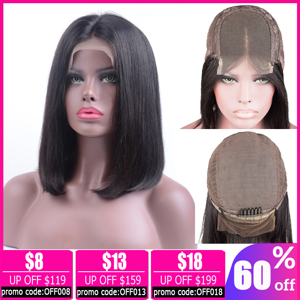 Straight 4x4 Lace Closure Wig Bob Lace Front Wigs Brazilian Short Human Hair Wigs Lace Front Human Hair Wigs For Women Non-remy