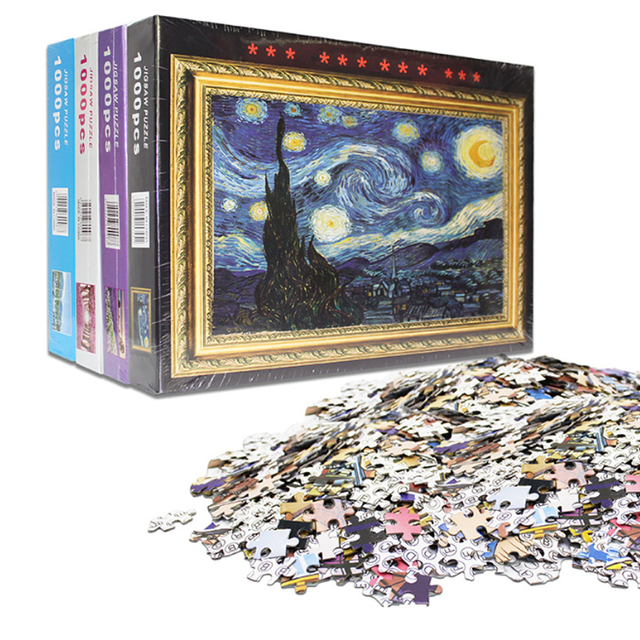 1000 Pcs Adult Puzzle Kids Jigsaw Landscape Puzzles Educational Toys For Children animation pairing Puzzles Gift