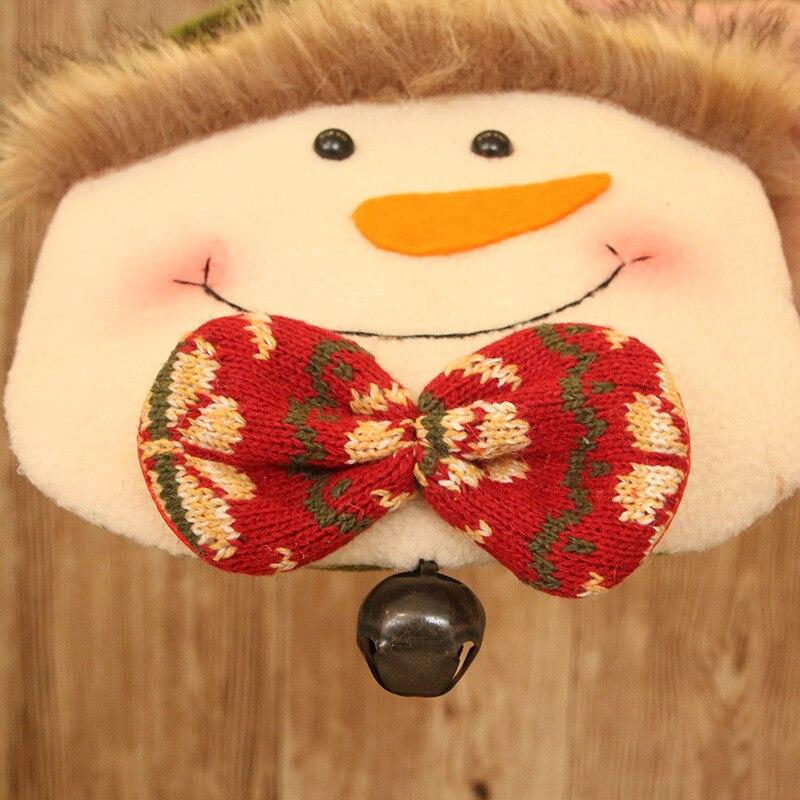 Novedosos soportes de regalo X'MAS Santa Claus muñeco de nieve ciervo bolsa de diseño con campana Navidad Fiesta suministros 18*43 cm 10 uds/lote DEC421 - 4