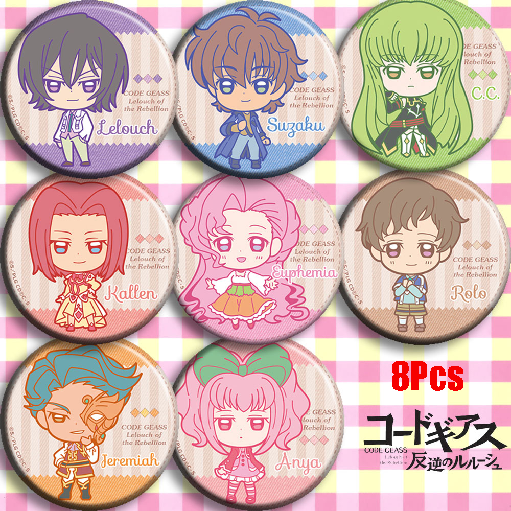 Anime  Code Geass Lelouch Lamperoug Lulu Zero Cosplay Bedge Cartoon Bag Badge Button Brooch Pin Pendant