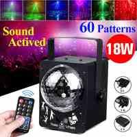 60 lumières de fête de boule de Disco activées par son de modèle lumières de LED de la lumière stroboscopique 18W rvb pour l'exposition de mariage de KTV à la maison de noël