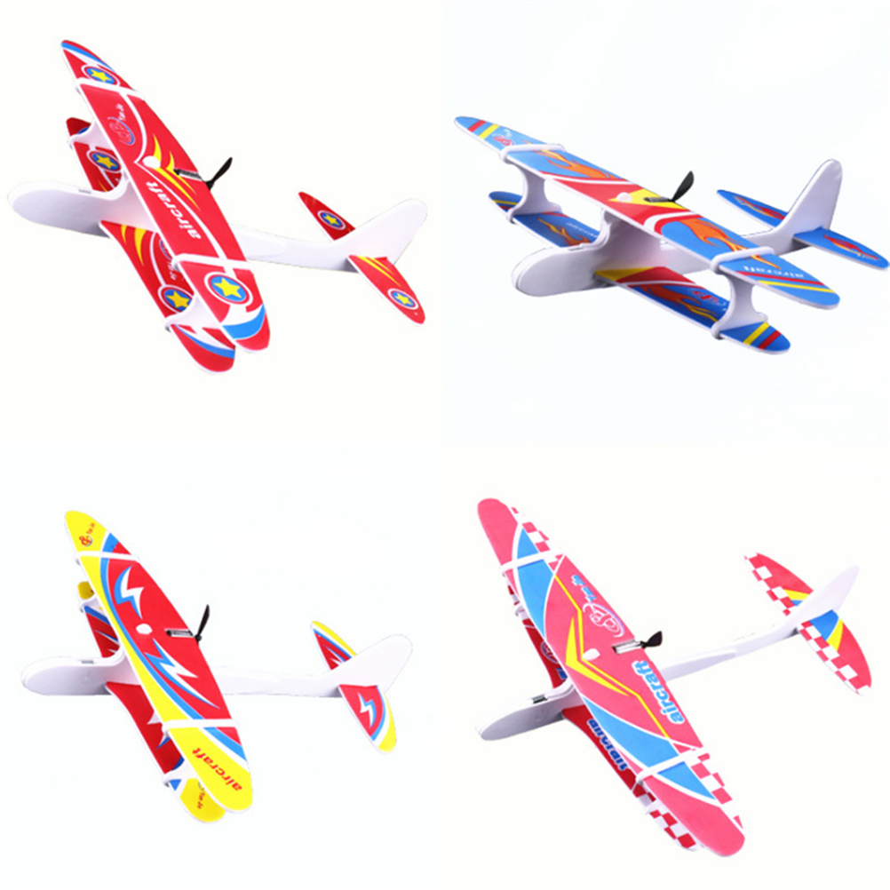 Hand Throwing Airplane Electric USB Plane Foam Airplane Hand Launch Throwing Glider Aircraft Model Kid'S Educational Toy