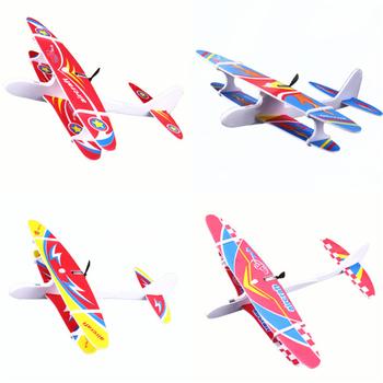 Ręcznie rzucanie samolot elektryczny samolot USB pianka samolot ręcznie uruchomienie rzucanie szybowiec model samolotu zabawki edukacyjne dla dzieci tanie i dobre opinie LISHEN USB Aircraft Sport safe use Unisex Electric USB Aircraft 5-7 lat