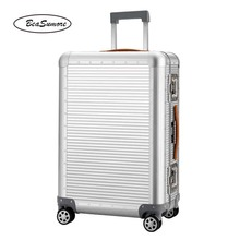 BeaSumore 100% aluminum alloy Rolling Luggage Spinner 20/26 inch High capacity Women Trolley Men Business Cabin Suitcase Wheels