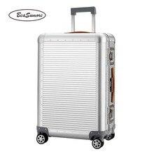 BeaSumore chariot pour hommes et femmes, roue valise 100% en alliage daluminium pour bagages rouleur, haute capacité, 20/26 pouces