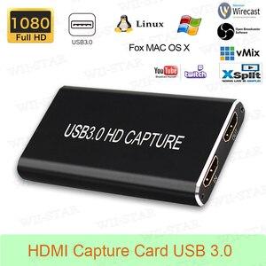 Image 5 - Full HD USB3.0 1080P HDMI Video Capture Cardกล่องมาตรฐานสำหรับWindows/Linux/Mac HDMI Capture