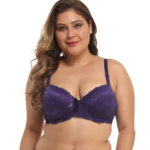 Sexy Plus Size Bras For Women Breathable 3/4 Cup Lace Bra Deep V Underwear 36-46 B C D DD E Lingerie 4 Colors Brassiere bh