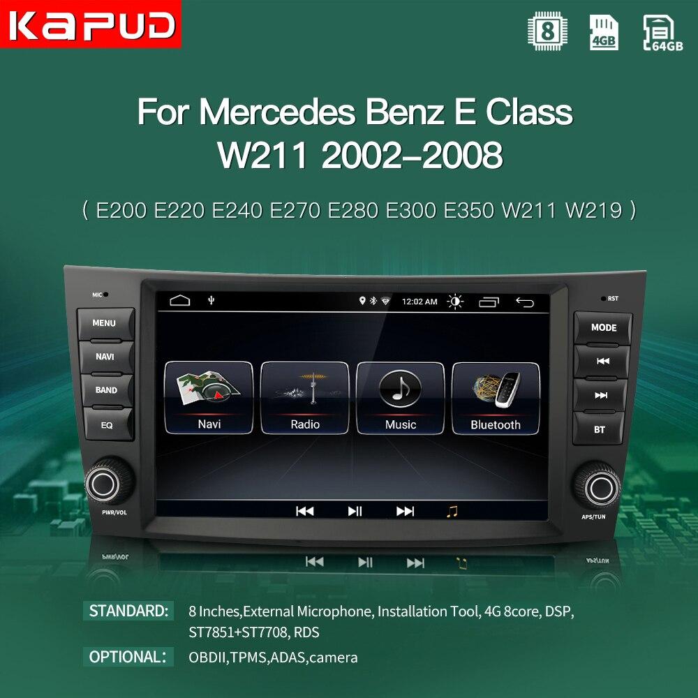 Kapud Car Navigation Player Autoradio GPS Android 10 For Mercedes Benz E Class W211 E200 E220 E240 E280/CLK W209/G Class W463 WI|Car Multimedia Player|   - AliExpress