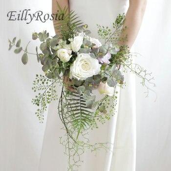 EillyRosia Artificial Wedding Flowers Handmade Unique Design Bridal Bouquet for Bride Romantic Outdoor buque de noiva Boho