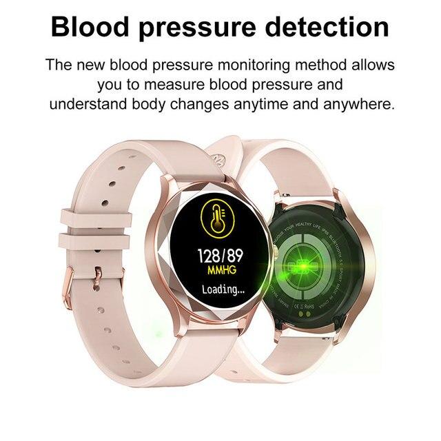 Relógio inteligente feminino adorável pulseira sono freqüência cardíaca monitor de pressão arterial smartwatch senhoras presente relógios masculino para android ios 3