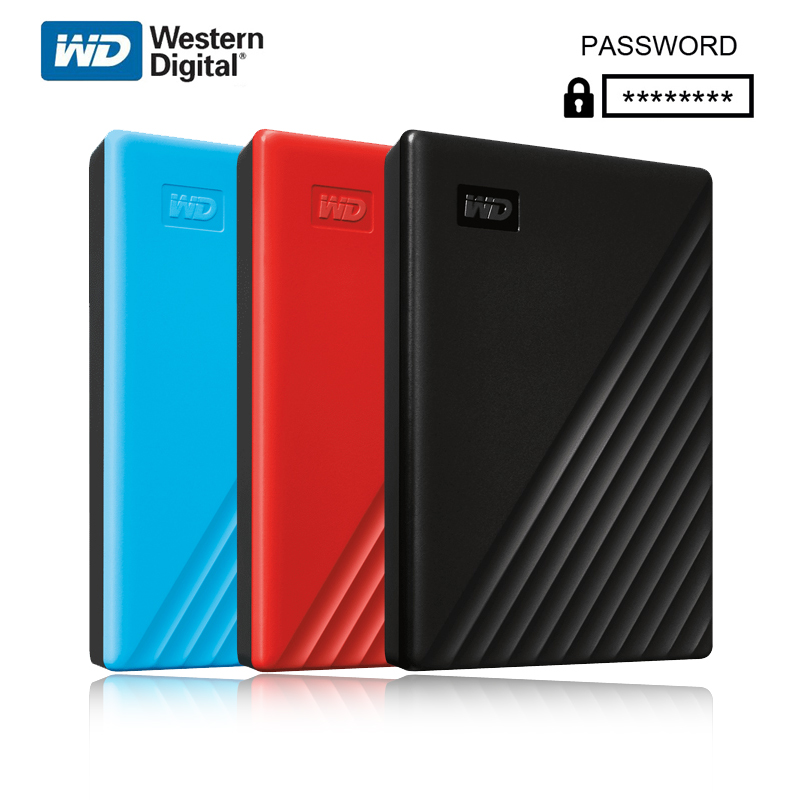 Original Western Digital WD My Passport™ 1TB 2TB 4TB 5TB External Hard Drive Disk WD Backup™ software and password protectionHDD image