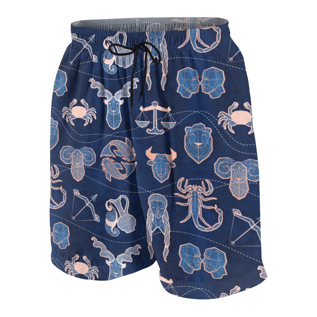 NOISYDESIGNS Geometric Navy Blue Coral Animals Shorts 3D Board Trunks 2020 Summer Teen Boys Hip Hop Short Pants Beach Wear Boy