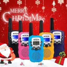 RETEVIS RT388 워키 토키 키즈 2pcs Comunicador 어린이 라디오 거리 100 800M 워키 토키 생일 크리스마스 선물