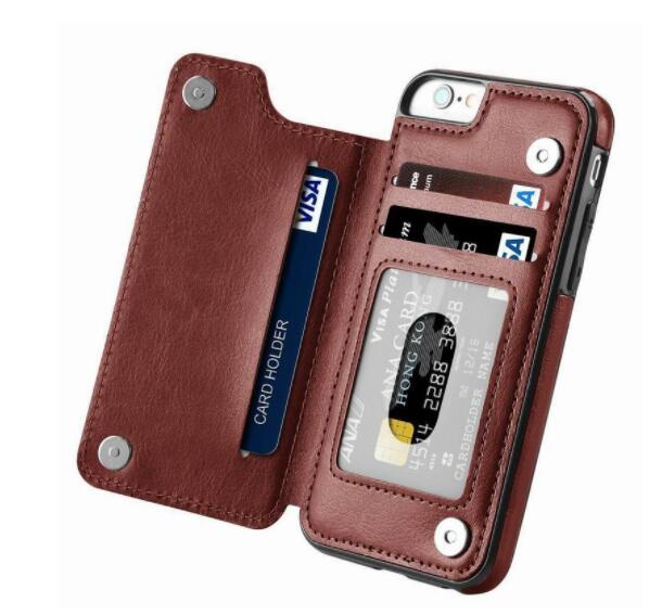 Luxury Flip Leather Wallet Case For iPhone 5S SE 5 Funda Card Slots Phone Bag Cover For iPhone 7 6S 8 X Xr XS Max Coque(China)