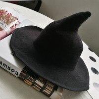 Mago sombrero gorro de bruja Halloween mujeres hombres traje accesorio para Halloween Cosplay gorros de fiesta decoración Decoración