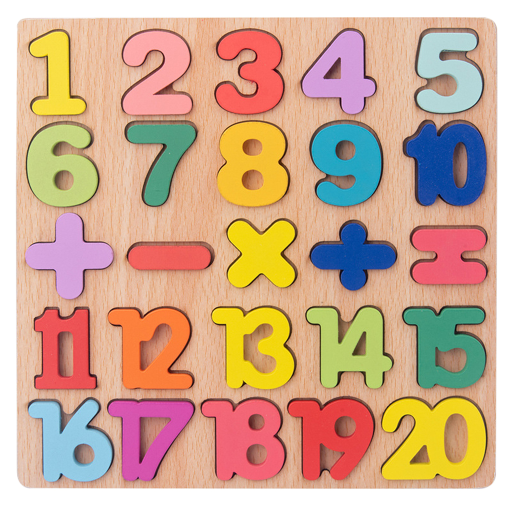 20 20 Numbers Colorful Wooden Educational Toy Set Preschool Learning  Counting Board Math Toys for 20 20 20 Years Kid Toddler