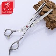 Fenice 7 inch professional dog  thinning scissors in for pet grooming shears ножницы для стрижки собак maka tijeras