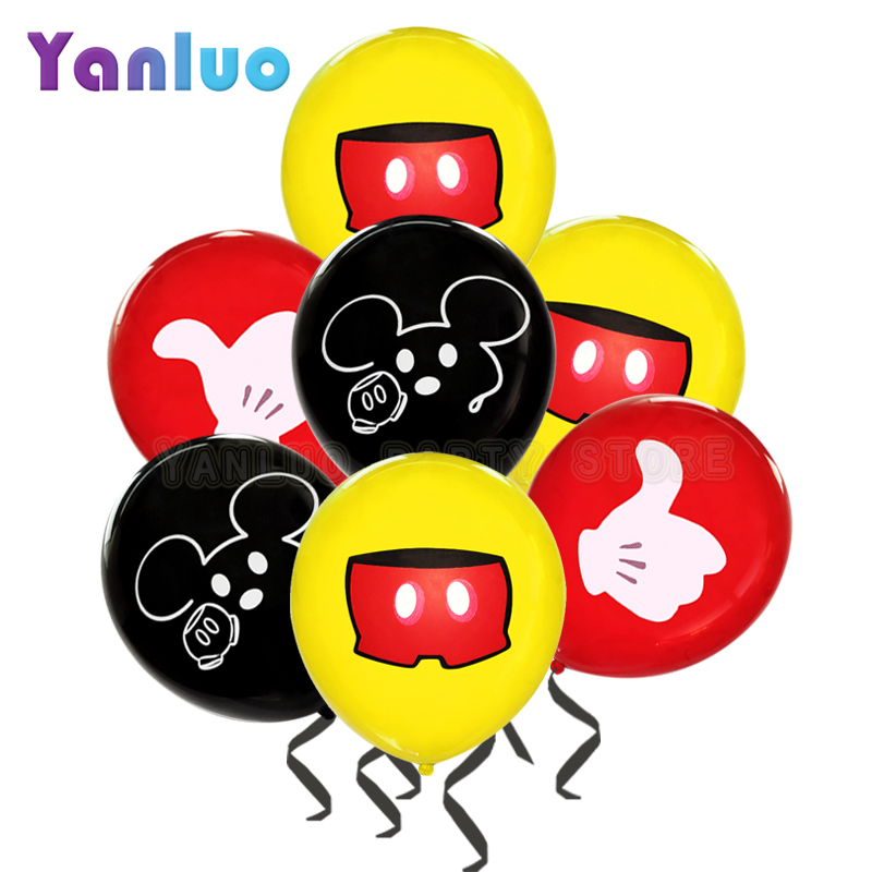 10Pcs//bag Baby Boys and Girls 1st First Birthday Balloon Age 1 Latex Balloons