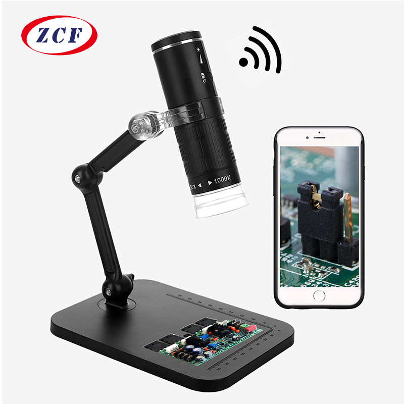 USB Digital Microscope 1000x High Resolution for Phone Wireless Tablet PC with 8-LED Light Magnification Endoscope Magnifier Microscope Camera for Kids Students