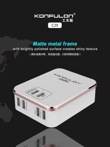 Image 4 - 6USB Mobile Ladegerät Schnell Ladegerät QC 3,0 EU UNS UK stecker multi USB Telefon Ladegerät Schnell Ladegerät 3,0 Für Mobile IPhone12 Ipad C29