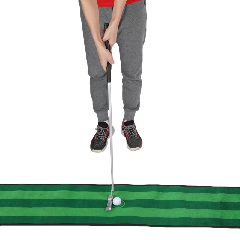 Sports Golf 3-Section Connected Collapsible Golf Putter Non Skid Rubber Grip Portable Right Handed Golf Putter Practice Tool