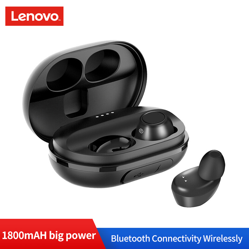 Dropshopping Lenovo S1 TWS Wireless Bluetooth Earphone Waterproof IPX5 V5.0 Stereo Headset with Mic and 1800mAh Portable Source-in Bluetooth Earphones & Headphones from Consumer Electronics