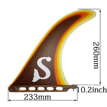 "BiLong FCS גלשן סנפיר פיברגלס מרכז אחת תיבת סנפיר 8 9 10 ""אינץ longboard ארה""ב בסיס sup אביזרי noserider סגנון לגלוש"
