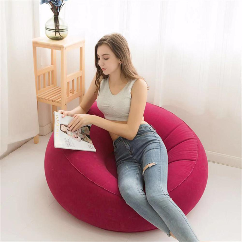 Large Bean Bag Lazy Sofas Made Of Flocking Material for Indoor Outdoor Tatami Seat 2