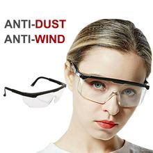 Okulary antywirusowe ochrona oczu wirusy okulary ochronne ochrona antywirusowa kombinezon szklany szok ślina bezpieczeństwo Splash Wind tanie tanio