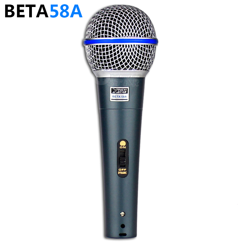 Professional XLR Wired Switch Handheld Mic Vocal Dynamic Microphone Mike For BETA 58A 58 BETA58A PC DJ Mixer Karaoke Microphones