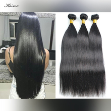 Human-Hair-Bundles Kaimo Straight Weft-Free Shedding Double-Machine Natural-Color Sew-In