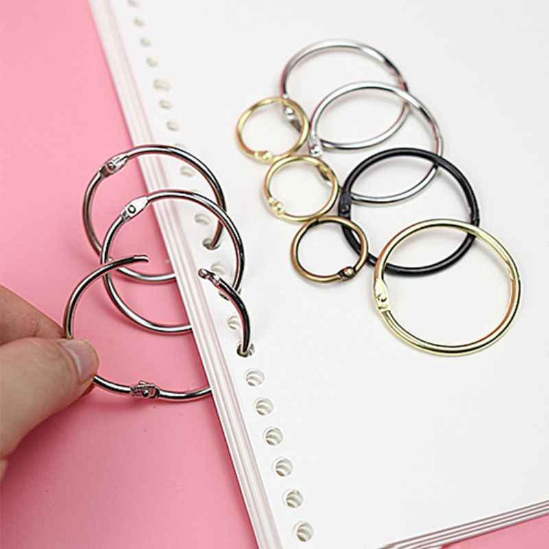assorted sizes Loose Leaf Book Binder Hinged Rings for Book Scrapbooking Album
