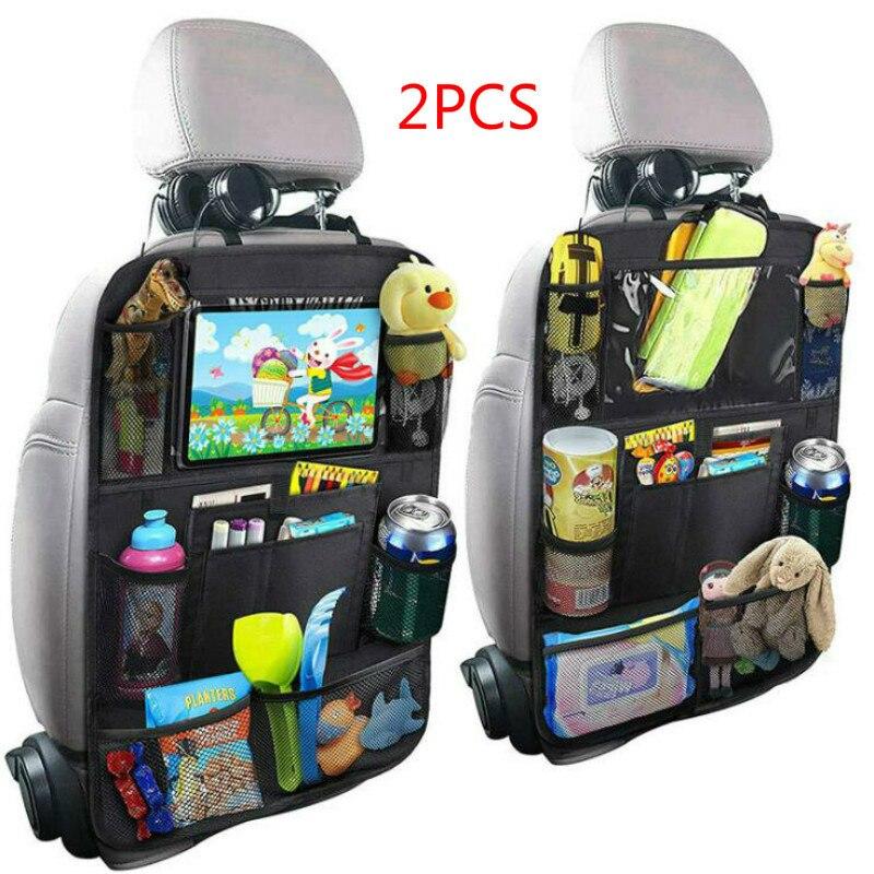 Nouveauté pratique siège de voiture arrière organisateur multi-poche sac de rangement boîte Case voiture sac de rangement support de tablette organisateur de stockage