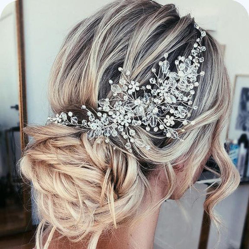 Rhinestone Beads Headband Bridal…