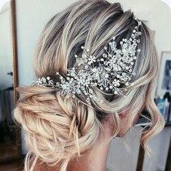 Rhinestone Beads Headband Bridal Tiara Hair Accessories Hairband Wedding Hair Jewelry Headpiece Women Accessories Tiaras