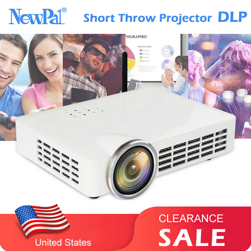 DLP Projector 4K 3D 1080P Full HD Android Projector Wifi Home Theater Short Throw Overhead 5000 lumens Beamer US CLEARANCE