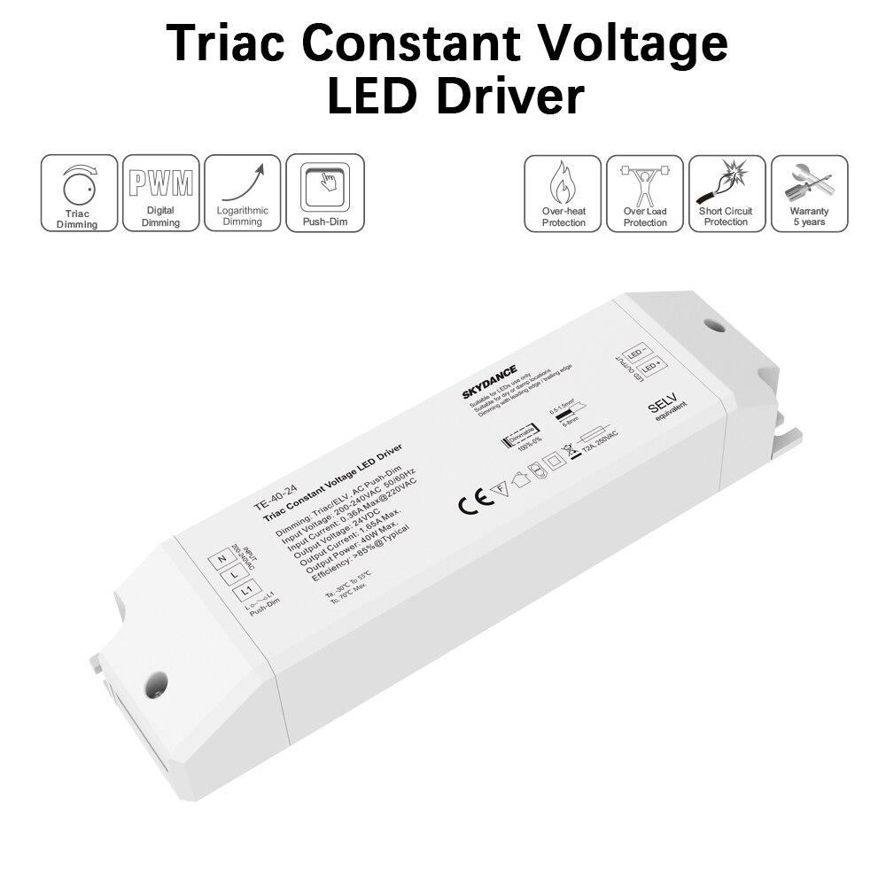 AC220V 240V DC/DC 12V 24V постоянный Напряжение светодиодный симисторный ШИМ цифровой дали затемняя драйвер 40 Вт 1 выходной канал для светодиодный освещения-in Трансформаторы систем освещения from Лампы и освещение