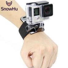 Snowhu移動プロヒーロー9 8 7 6 5 4 3のためのアクセサリー黒弾性調節可能なリストストラッププロヒーロー8 SJ4000 GP93