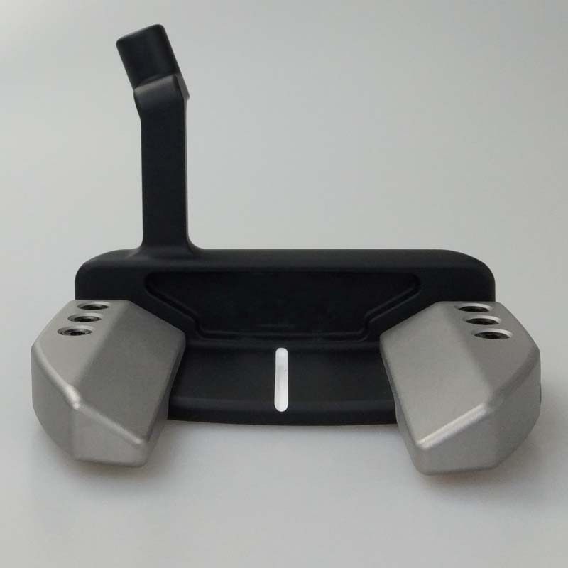 Silver Black BK P Bent Bar Putters Black Steel Shaft With Rod Cover Golf Putter Free Shipping