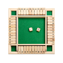Board-Game Kids Entertainment Drinking-Gift Family Number-Dice Educational-Toy Wooden