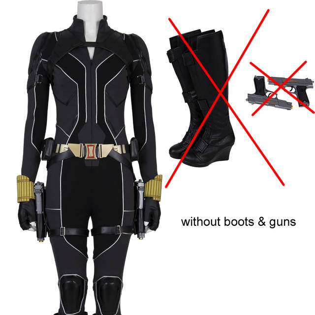 Us 27 71 36 Off 2020 Movie Black Widow Cosplay Costume Carnival Halloween Outfit Cosplay Natasha Romanoff Jumpsuit Fancy Accessories Boots On