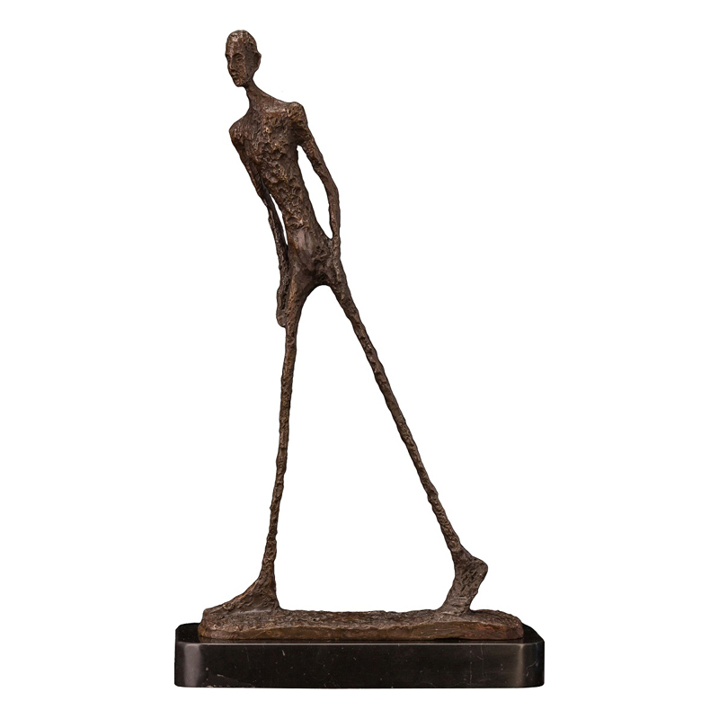 Walking Man Statue Bronze by Giacometti Replica Abstract Skeleton Sculpture Vintage Collection Art Home Decor