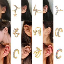 20 Style Fashion Ear Cuff Clip Gold Leaves Non-Piercing Ear Clips Fake Cartilage Earring Jewelry For Women Climbers  Christmas
