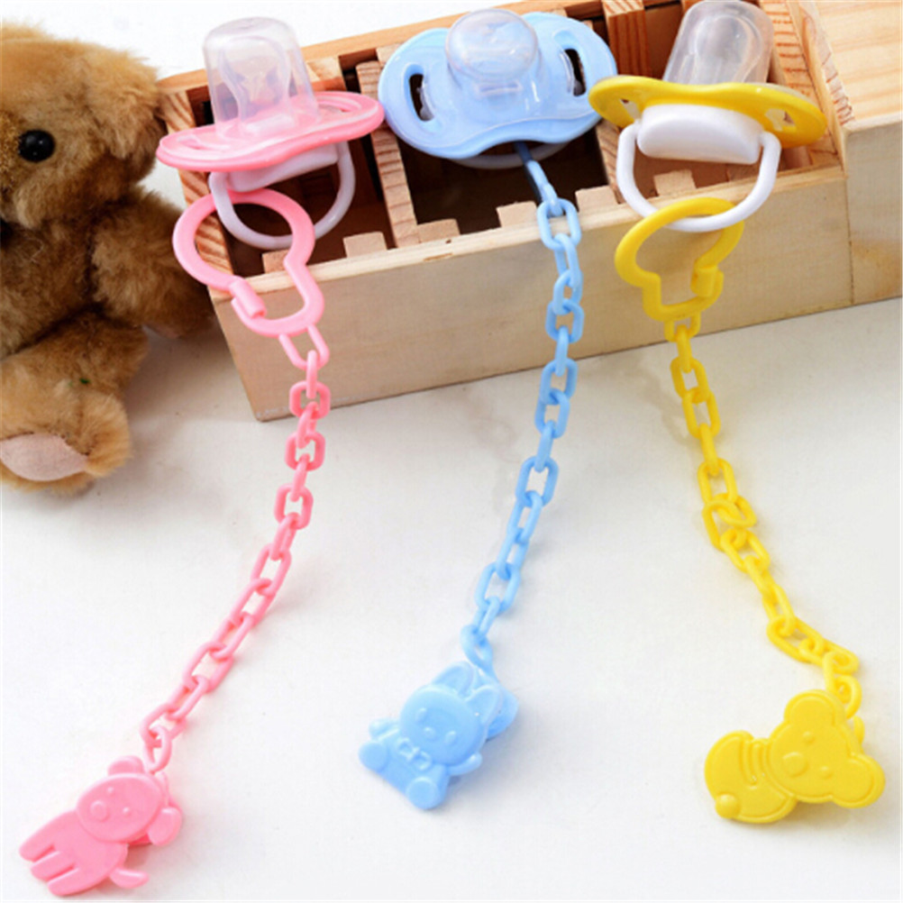 Baby Pacifier Anti-chain Safety Clip Baby Plastic Pacifier Chain Clip Chain Baby Pacifier Holder Anti-dropper