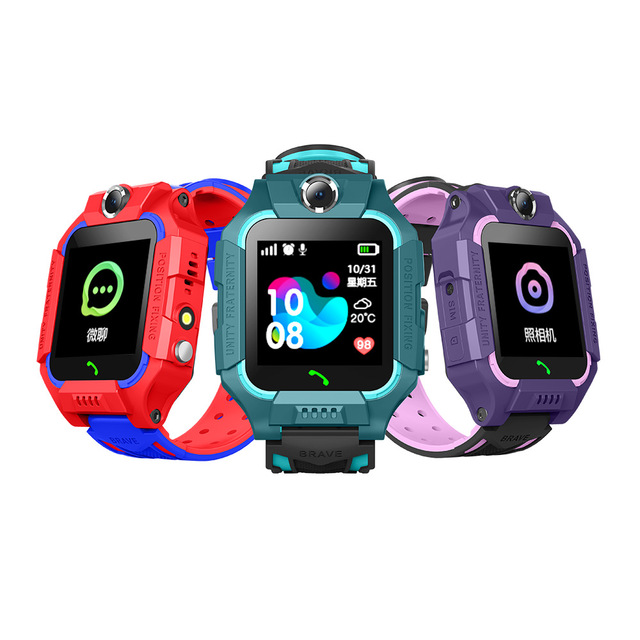 Anti Lost LCD Child LBS Tracker SOS Smart Monitoring Positioning Phone Kids LBS Baby Watch Compatible IOS & Android